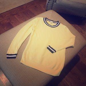 J Crew Yellow basketweave sweater